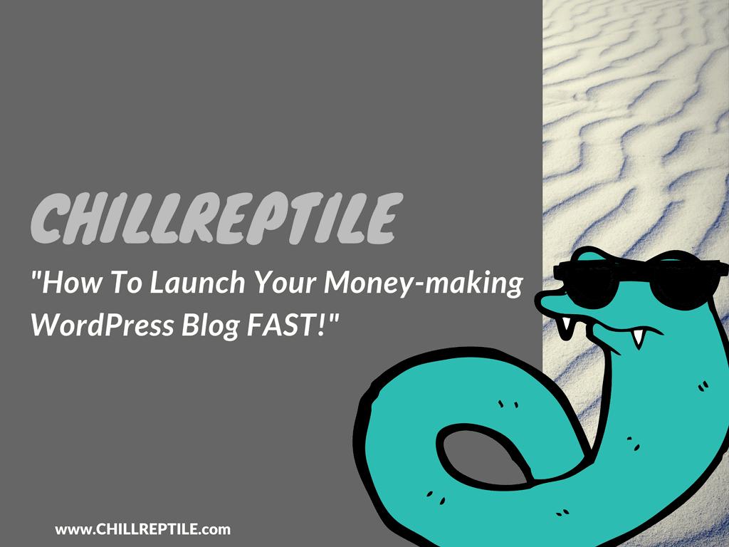 chillreptile start a wordpress blog