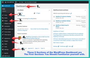 2017 wordpress dashboard