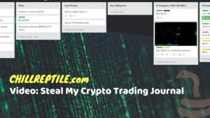 crypto trading journal chillreptile