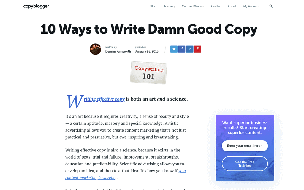blog post examples, listicle post example, blog post template