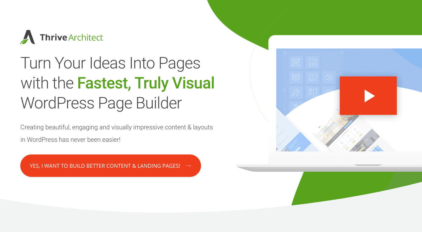 wordpress page builder thrive architect