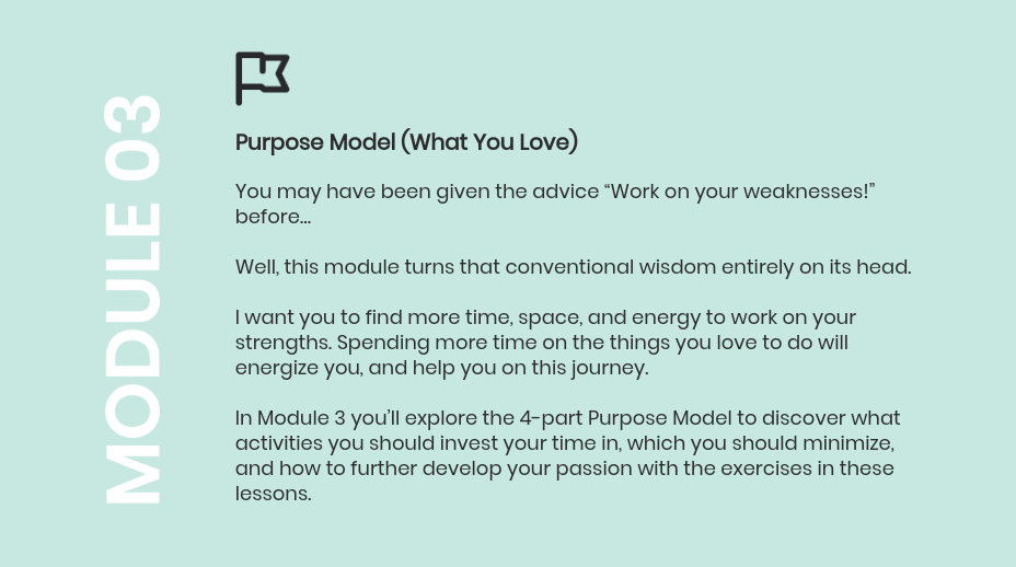 passion to paycheck module 3