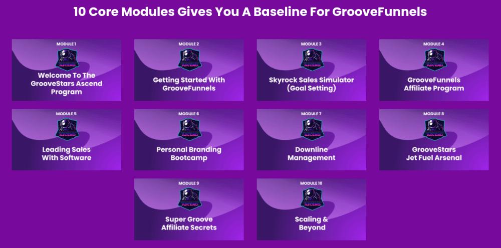 GrooveStars Ascend Training modules