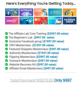 Matt Diggity Affiliate Lab Pricing