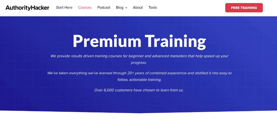 Authority Hacker Pro Affiliate Course