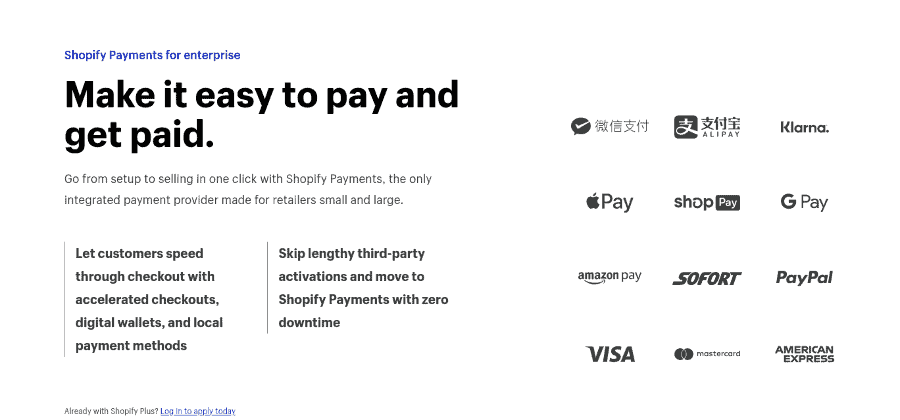 Shopify Plus Payments