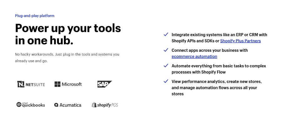 Shopify plus integrations