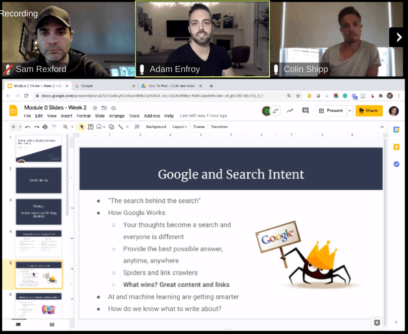 Adam Enfroy Blog Growth Engine Beta Group